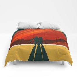 Vintage Adventure Travel Phobos and Deimos Comforters