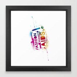 Fashion against aids Framed Art Print