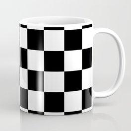 Black White Checker Coffee Mug