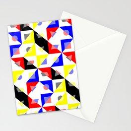 Checker Bauhaus Pattern Stationery Cards