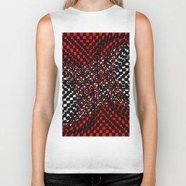 black white red 3 Biker Tank