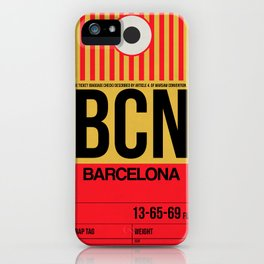 BCN Barcelona Luggage Tag 1 iPhone Case