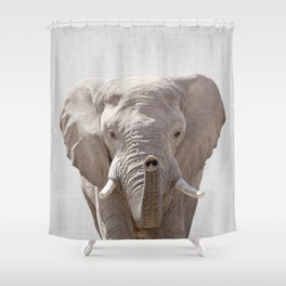 Elephant - Colorful Shower Curtain