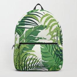 Green tropical leaves II Backpack