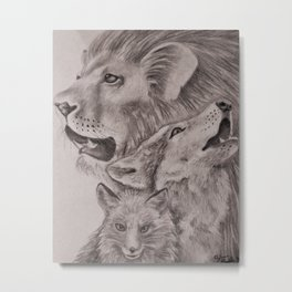 The Proud, the Defender and the Sly Metal Print
