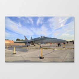 FA-18 on display  Canvas Print