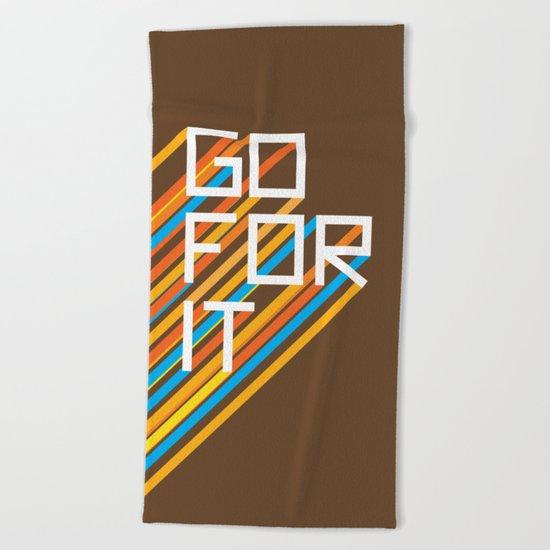 70s Go For It Beach Towel