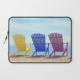 Summer's Beach Chairs   Nadia Bonello Laptop Sleeve
