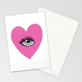 Love is watching Stationery Cards