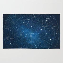 Constellation Star Map Rug