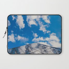 Cloud reflection in the Louvre Pyramid Laptop Sleeve