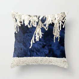 Snow in the Morning Throw Pillow