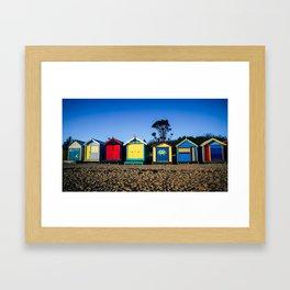 Brighton Beach Bathing Boxes. Melbourne. Australia. Framed Art Print