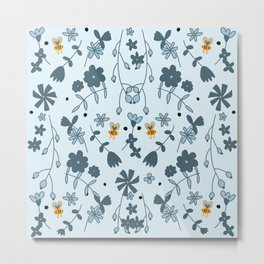 Bumbling and Busy Metal Print