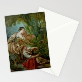 "François Boucher ""L'Appeau (also known as L'Oiseau pris dans les filets)"" Stationery Cards"