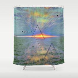 Pyramid Power Shower Curtain
