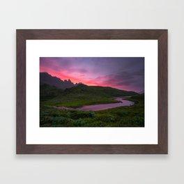 Hraunsvatn, Öxnadalur, Iceland Framed Art Print