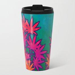 Turquoise Cannabis Field Travel Mug