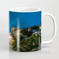islam Mugs featuring Mostar at night by Fatih