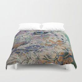 Royal Snow Leopard Duvet Cover