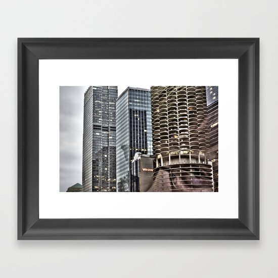 This is Steve. This Is Chicago. Hi! Framed Art Print