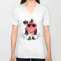 splash V-neck T-shirts featuring SPLASH by Ali GULEC