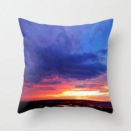 Evening's Face Throw Pillow