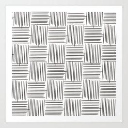 Crosshatch No. 1 Art Print