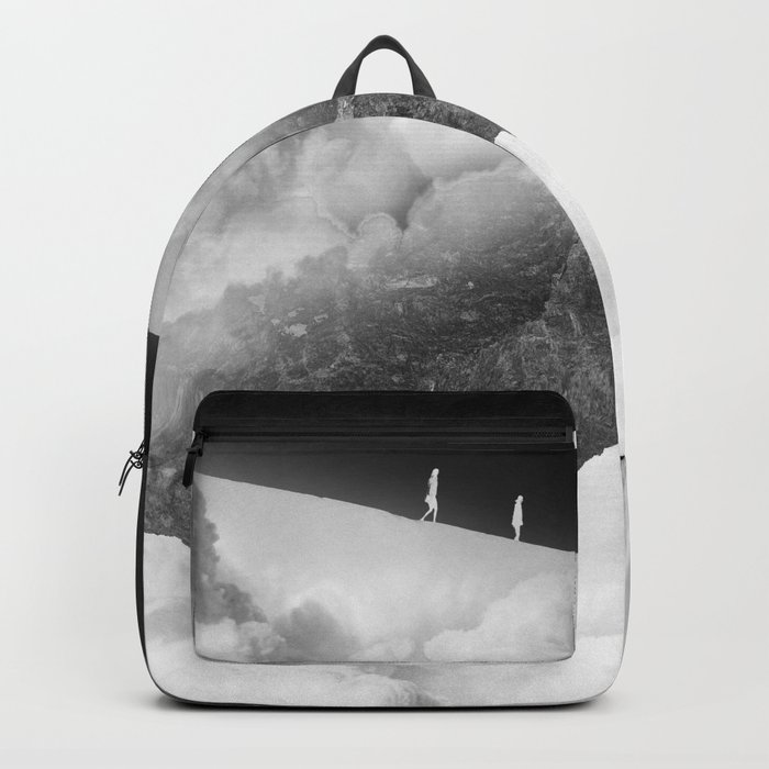 State of black and white isolation Backpack
