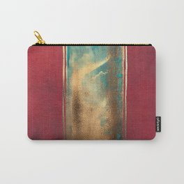 Deep Red, Gold, Turquoise Blue Carry-All Pouch