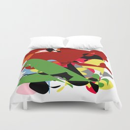 Forest of Colors, Abstract Art Duvet Cover