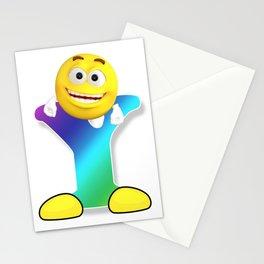 Letter Y Alphabet Smiley Monogram Face Emoji Shirt for Men Women Kids Stationery Cards
