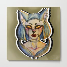 Catty Metal Print
