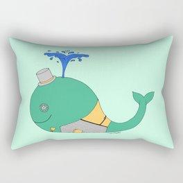 Steampunk Whale (Green) Rectangular Pillow