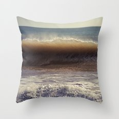 Azure Horses Throw Pillow