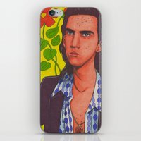 nick cave iPhone & iPod Skins featuring Spotty Nick by Anna Gogoleva