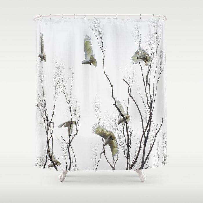 Birds of Australia Shower Curtain