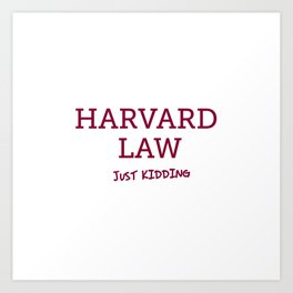 Harvard Law Art Print