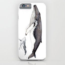 North Atlantic Humpback whale with calf iPhone Case