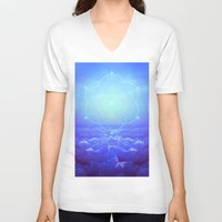 tolkien V-neck T-shirts featuring All But the Brightest Stars (Sirius Star Geometric) by soaring anchor designs