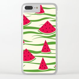 Juicy slices of watermelon Clear iPhone Case