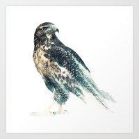 millenium falcon Art Prints featuring Falcon by RIZA PEKER