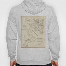 Vintage Map of Hampton Beach NH (1892) Hoody