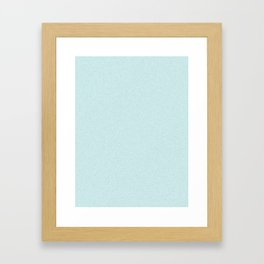 Light Cyan Light Pixel Dust Framed Art Print