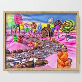 Pink Candyland Serving Tray