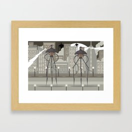 science fiction alien giant tripod Framed Art Print