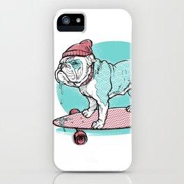 Hipster Bulldog iPhone Case
