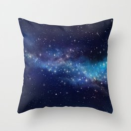 Floating Stars Throw Pillow