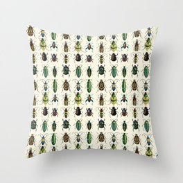 Jeweled Beetles  Throw Pillow