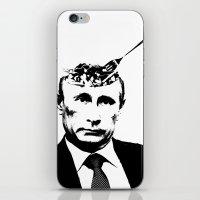 "putin iPhone & iPod Skins featuring Vlad ""Poutine"" - Putin Pun Portrait by MattSkinnerArt"